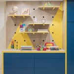 Painted Contemporary Playroom Wall Unit Philadelphia PA 1