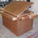 Furniture map cabinet