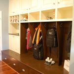 Kitchen - Mahogany and Painted Mudroom Lockers Bench Seat 2016 Moorestown NJ
