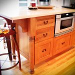 Kitchen - Qtr's White Oak Victorian Kitchen Island Moorestown NJ