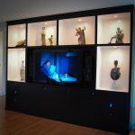 Media - Painted Lighted Wall Unit TV Display 2008 Moorestown NJ