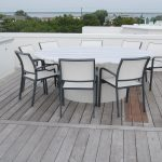 Outdoor - Marble and Starboad Round Roof Deck Dining Table 2015 LBI NJ